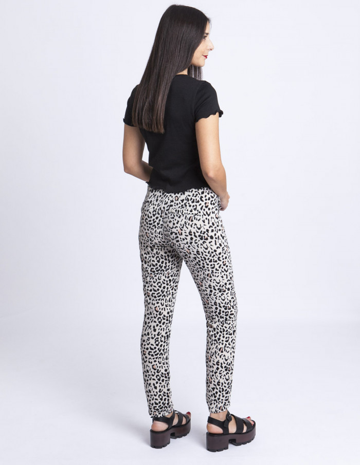 Pantalones leopardo Rut Circle Sommes Demode