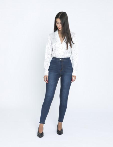 Jeans High waist dark blue glamorous zaragoza sommes demode