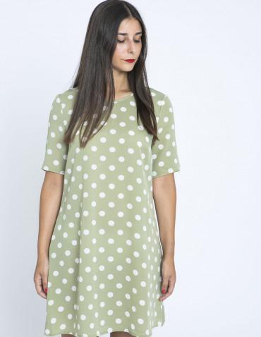 Vestido verde lunares glamorous zaragoza sommes demode
