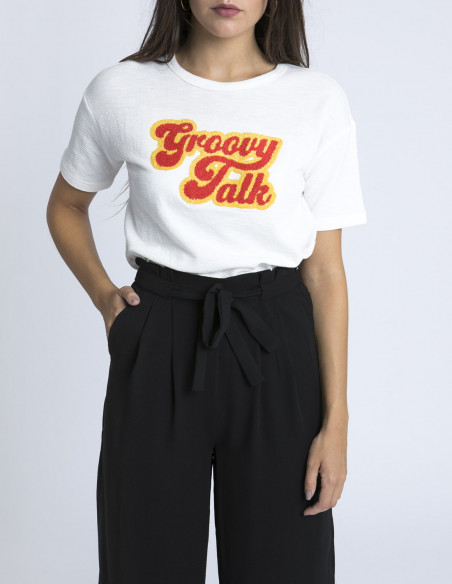 Camiseta Groovy Talk Frnch Sommes Demode Zaragoza